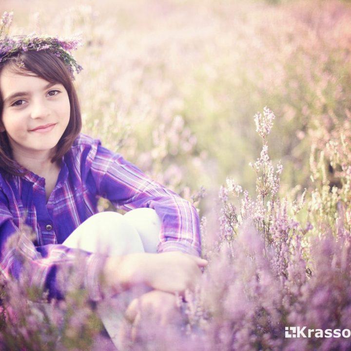 Wrzosy  Fotografia dziecięca