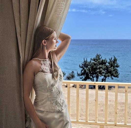 Fotografia ślubna - fotograf Żary - portret panny młodej w Grecji